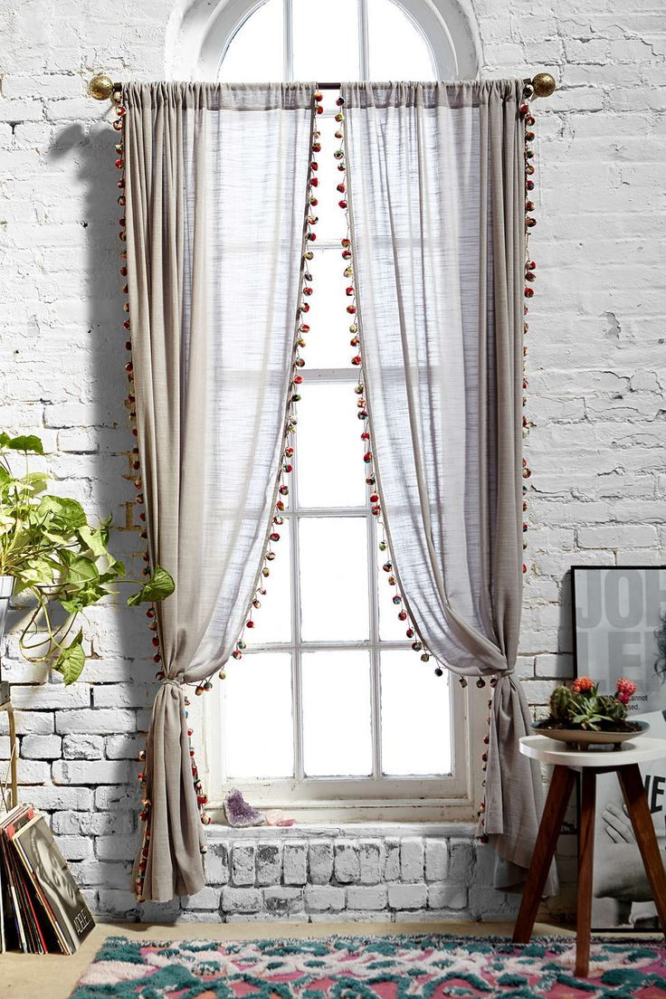 Magical Thinking Pompom Curtain   Urban Outfitters