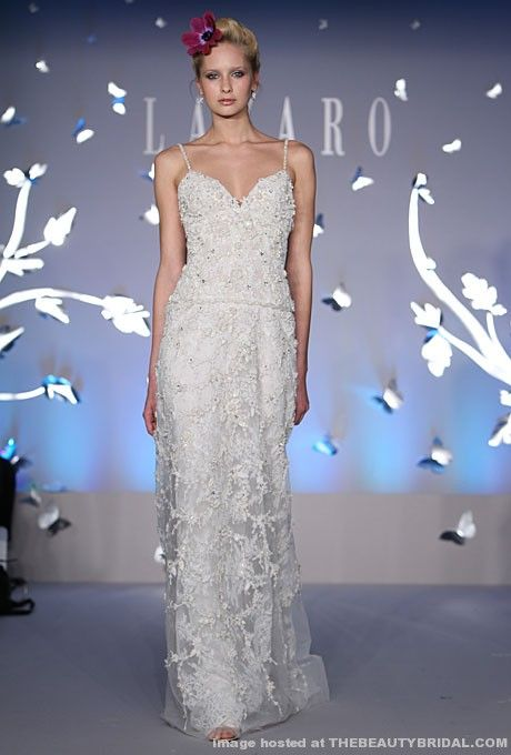 Lazaro Sheath Wedding Dress