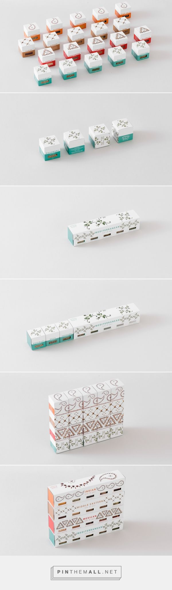 Around the World / herbs & spices packaging by Jung Ah Kim