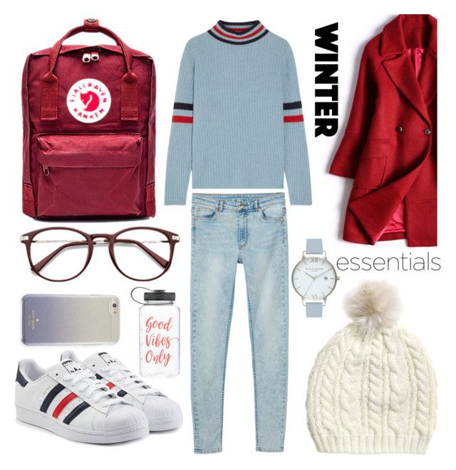 """BE∆NIE"" by cs1gusz on Polyvore featuring Monki, Fjällräven, The Elder Statesman, Olivia Burton, adidas Originals and Kate Spade"