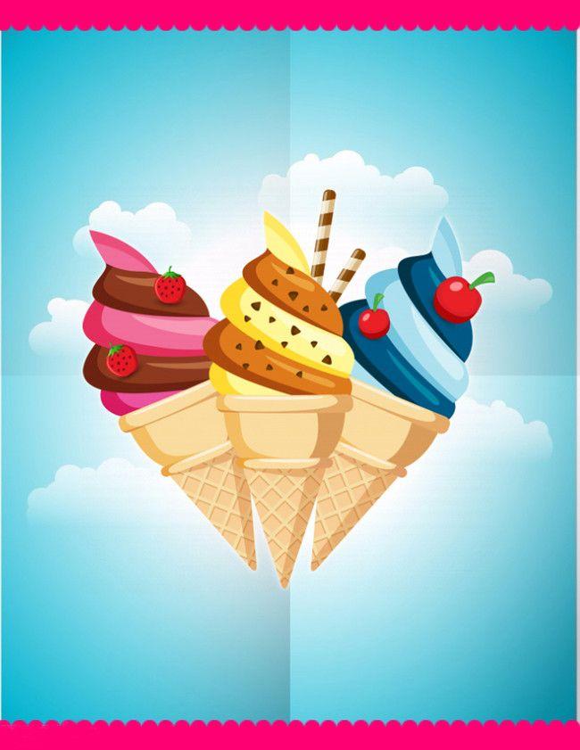 ice cream poster background ice cream
