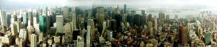 NYC panoramic city shot