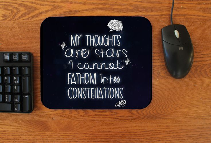 """""""My Thoughts"""" Mousepad"""
