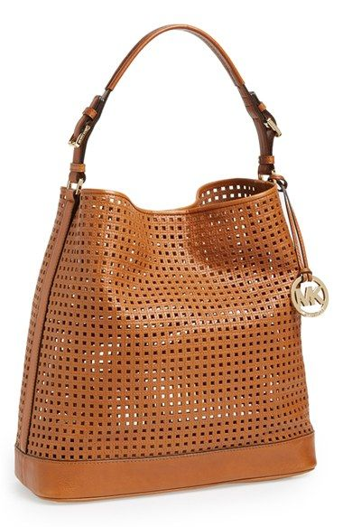 MICHAEL Michael Kors 'Large Bridget' Cutout Leather Shoulder Bag available at #Nordstrom