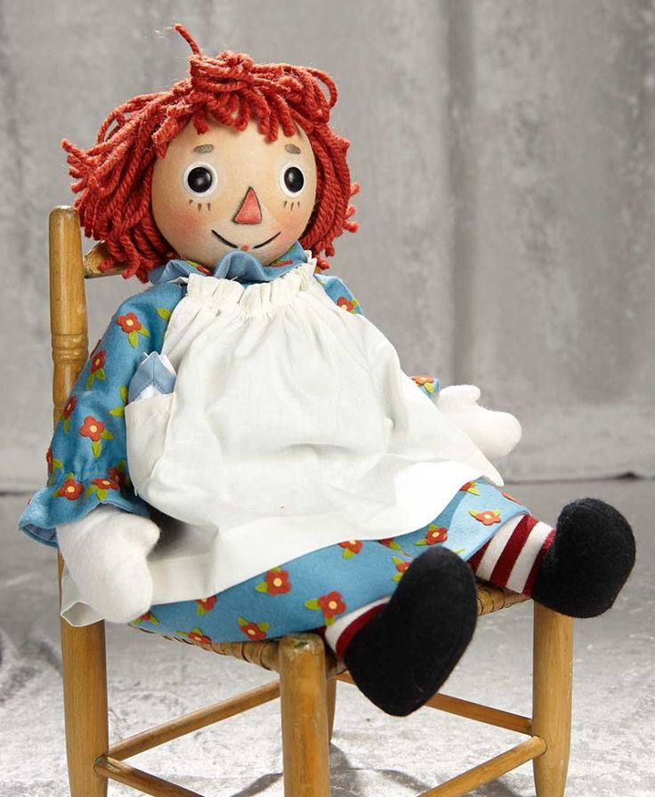 how to make a baby raggedy ann wig