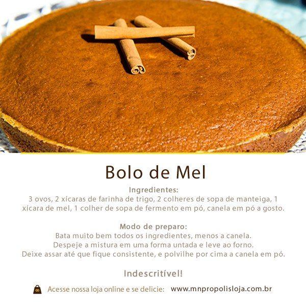 E pra fechar a semana com chave de ouro, uma receita extremamente fácil!   Adquira o mel aquiwww.mnpropolis.com.br/, e corra pra cozinha pra fazer essa delícia!