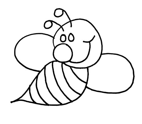 bee coloring pages for preschool - photo#36