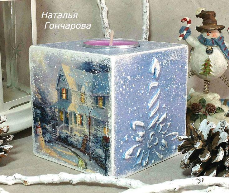 """Купить подсвечник со свечой """"Волшебная ночь"""" в интернет магазине на Ярмарке Мастеров"""