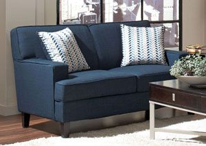 Finley Blue Loveseat, /category/living-room/finley-blue-loveseat.html