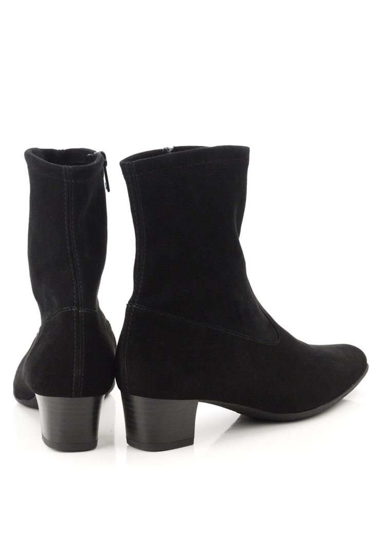 CLOSED MID HEEL BOOT - Classic ankle boots - black brLiy