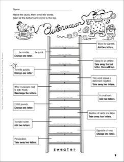 Outerwear Word Ladder (Grades 4-6)