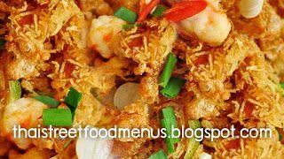 How to make easy Thai Crispy Fried Noodles menu (Pad-mee-Grob) http://thaistreetfoodmenus.blogspot.com #thaifood #thaifoodmenu #thaifoodrecipes #thaistreetfoodmenu #thaidishes