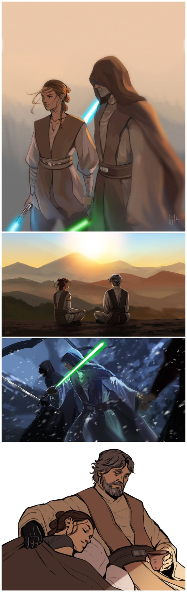I would love it if Rey got a double bladed ligthsaber