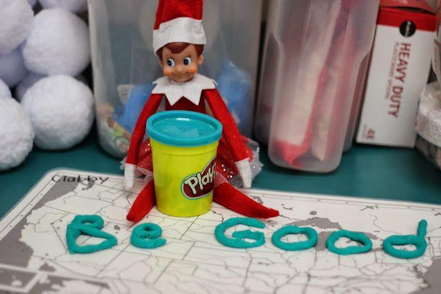 Kindergarten Smiles: Elf on Shelf: In the Classroom {Week 2}