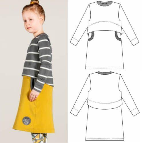 Kinderkleid aus Sweatshirtstoff – Freebook