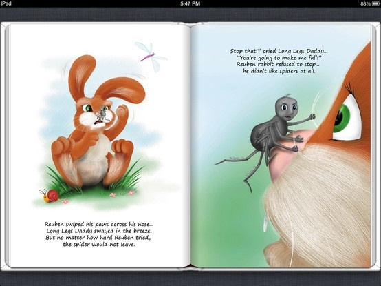 Screenshot from Long Legs Daddy on iTunes, download the book for $4.99.