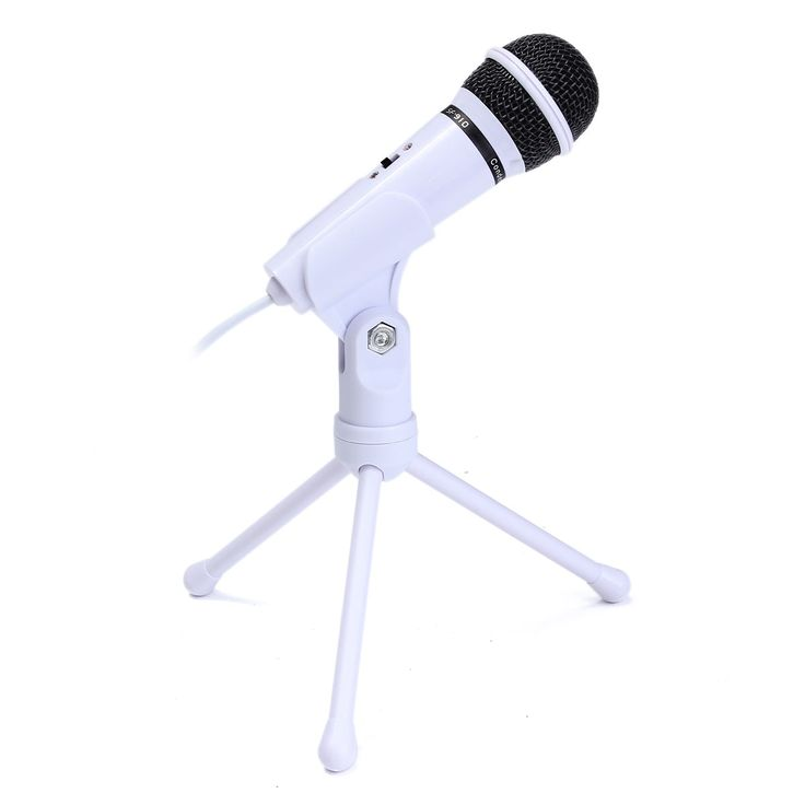 Perfect 3.5mm Condenser Microphone Mic Recording Stand For PC Laptop Desktop Computers Mic With Holder Best Price