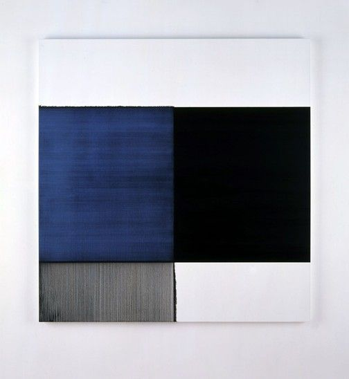 Callum Innes, 2007 Exposed Painting Royal Blue Oil on canvas | 166.5 x 154.5 cm