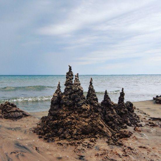 Sand castles at Sandbanks Provincial Park
