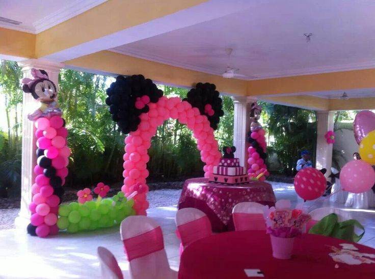 67 best images about mickey mouse balloon decoration party for Decoracion cumpleanos minnie