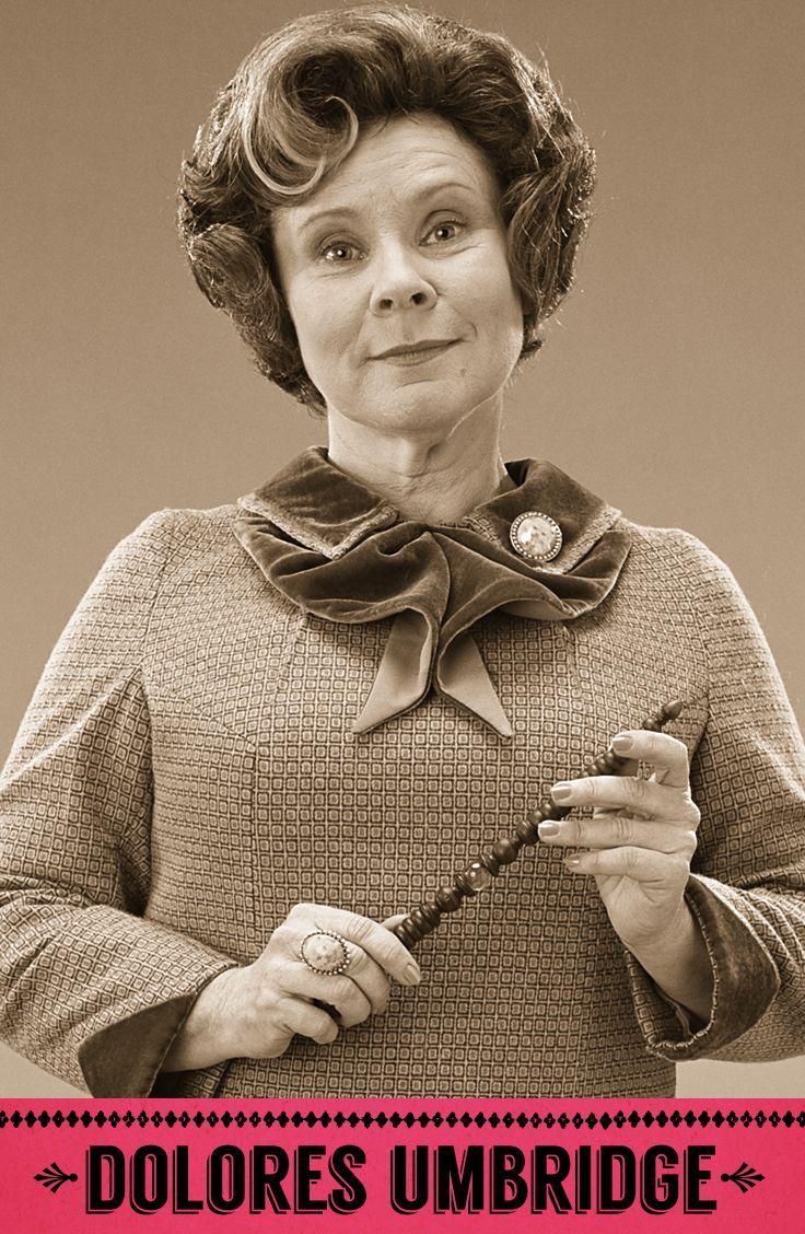 Dolores Umbridge, Defence Against the Dark Arts professor, Senior Undersecretary to the Minister for Magic, Hogwarts High Inquisitor, Headmistress of Hogwarts, Head of the Muggle-Born Registration Commission. #HarryPotter #Hogwarts #Umbridge