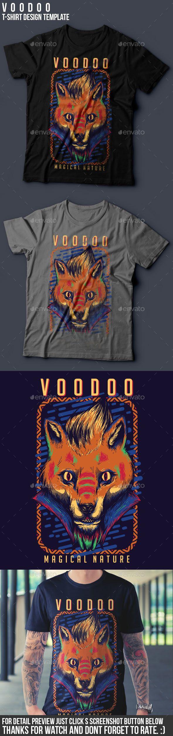 Design t shirt with illustrator - Voodoo T Shirt Design Template Vector Eps Transparent Png Ai Illustrator Download