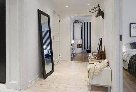 Scandinavian Apartment Look Interior Corridor Design