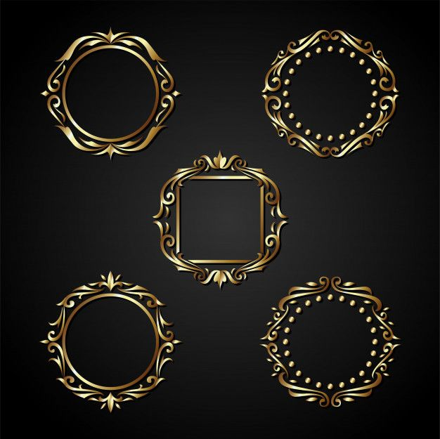Luxury Gold Circle Frame Vector In 2020 Gold Circle Frames Circle Frames Vintage Ornaments