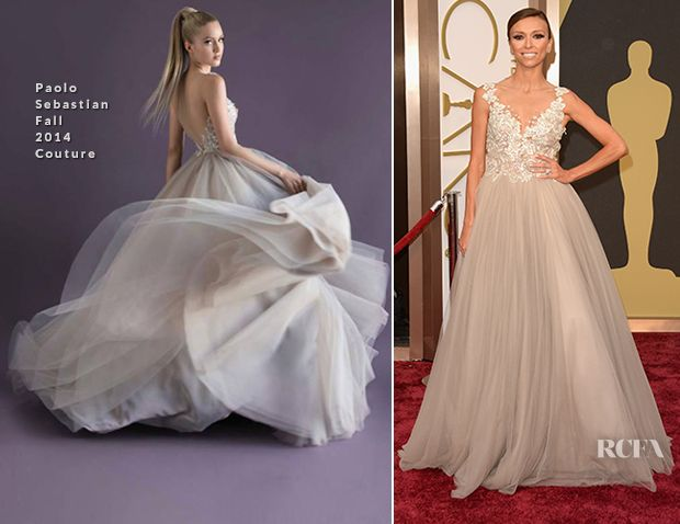 So in love with her dress! Giuliana Rancic In Paolo Sebastian Couture - Oscars 2014 - Red Carpet Fashion Awards