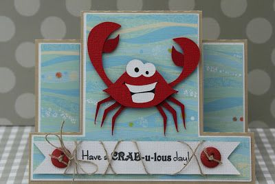 This and That: Created using Pretty Paper, Pretty Ribbons Moody Crab and Center Panel Step Card Cutting Files