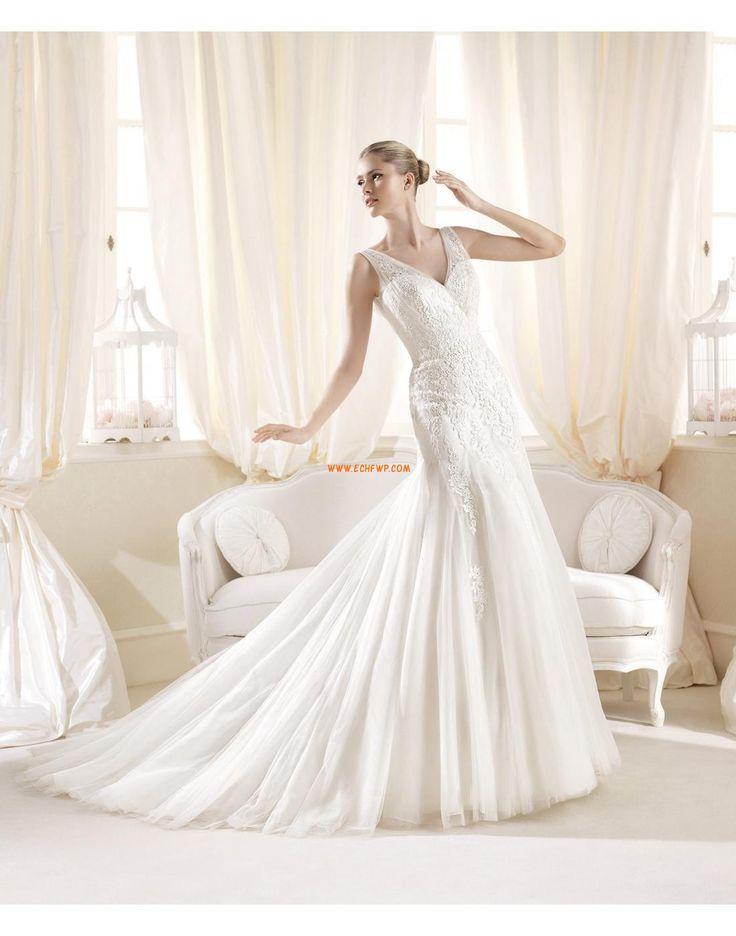 Hruška Elegantní & moderní Spuštený Luxusní svatební šaty