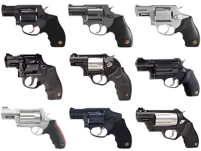 A look at nine reliable Taurus snub-nose revolvers from .38 Special to .454 Casull!