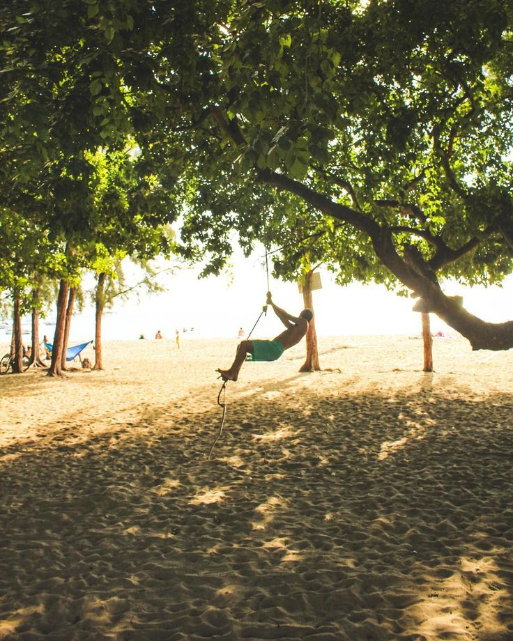 Sun sand and a rope swing. What more do you need?  #mauritius #adventure #whynot