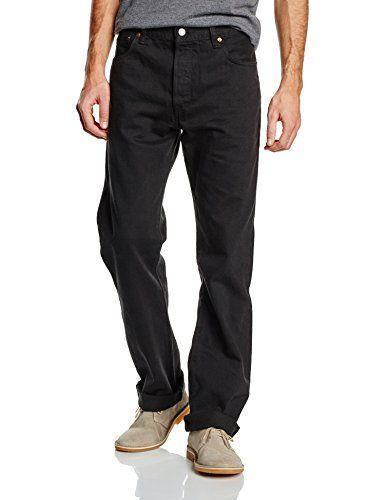 Levi's Homme 501 Original Fit Jeans: Jeans Levi's 501, avec des boutons, à l'éfet porté. Composition: 100% coton. La largeur de la bordure…