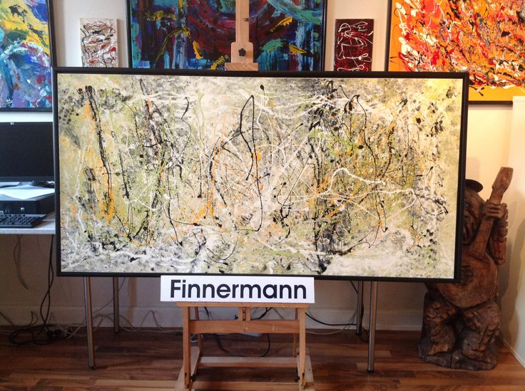 Art by FINNERMANN 80  X  160 CM I REN LAK.