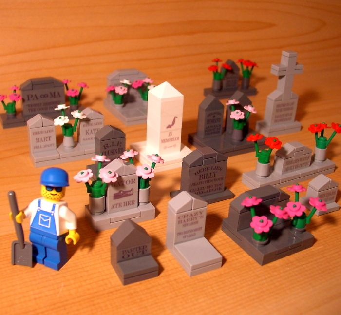 FUN CUSTOM CEMETERY SET! for town/city/train/church LEGO graveyard tombstone lot | eBay
