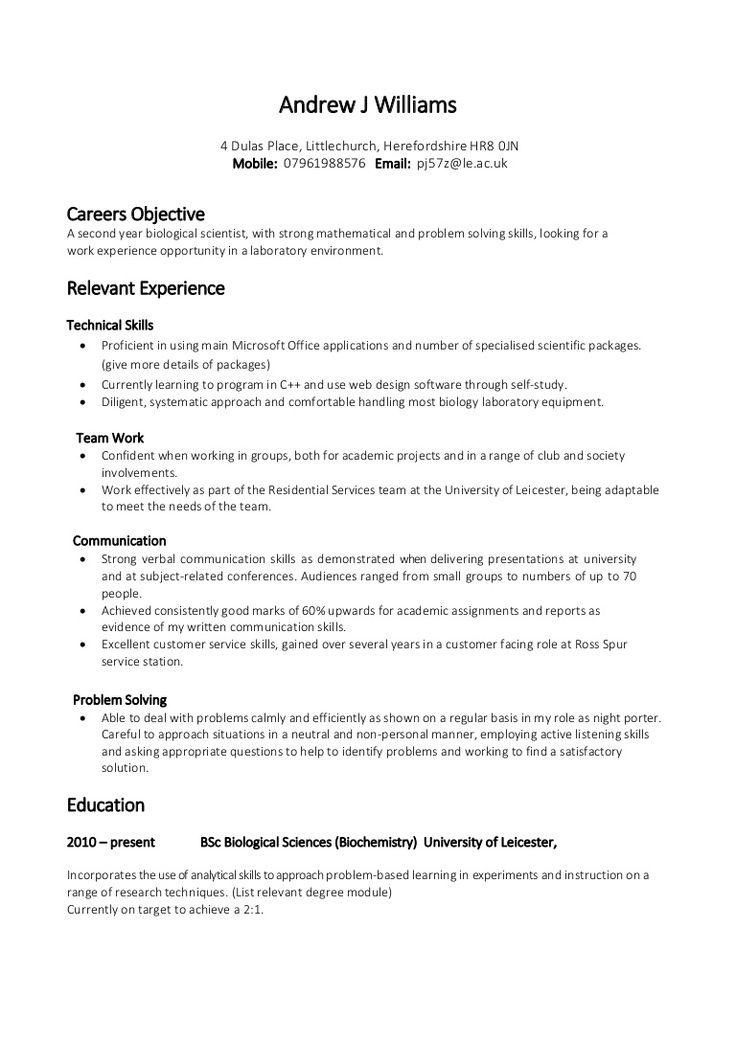 Les 25 meilleures idées de la catégorie Exemple de cv pdf sur - user experience designer resume