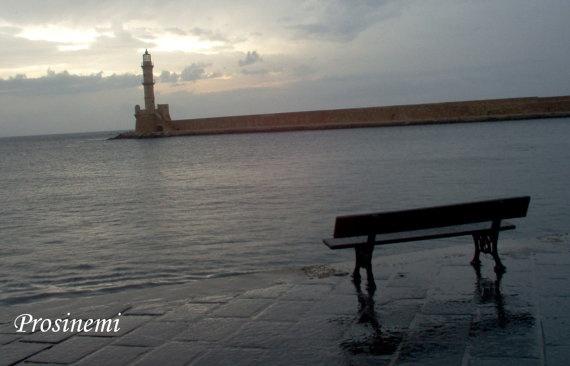 Rainy morning Chania port Greece photo print by prosinemi on Etsy, €20.00