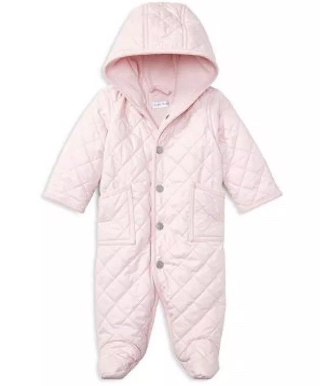 ab230753d7e7 POLO RALPH LAUREN Newborn Baby GIRLS QUILTED Winter SNOW SUIT ...