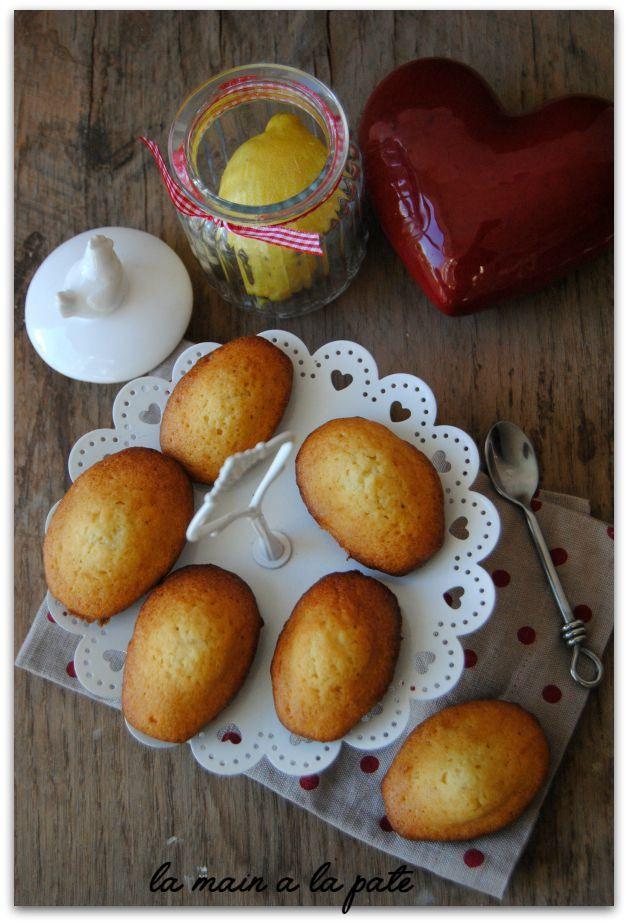 Madeleines citron et miel d'acacia