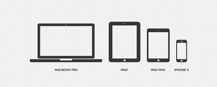 Minimal Apple Device Icons | Best PSD Freebies