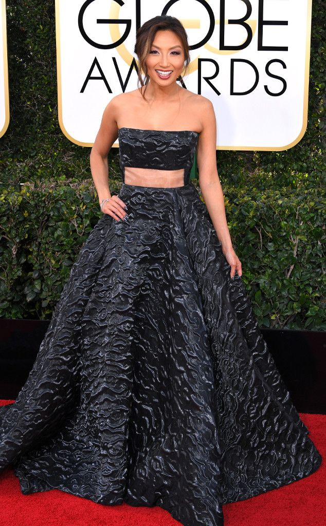 Jeannie Mai from 2017 Golden Globes Red Carpet Arrivals