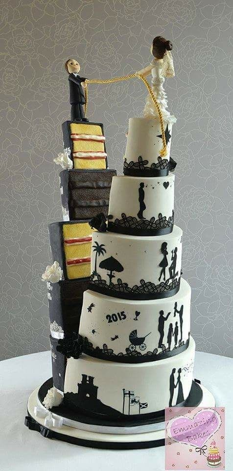 Wow! Such a clever wedding cake @Craftsy