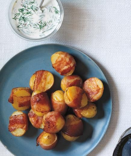 Bacon-Wrapped Potatoes With Creamy Dill Sauce recipe