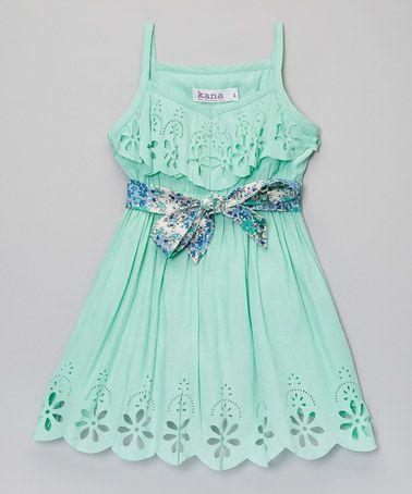 http://www.zulily.com/invite/vhanson979 This Mint Maya Dress - Toddler & Girls is perfect! #zulilyfinds