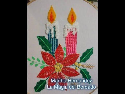 BORDADO FANTASIA VELA NAVIDEÑA CON MARIMUR 583 - YouTube