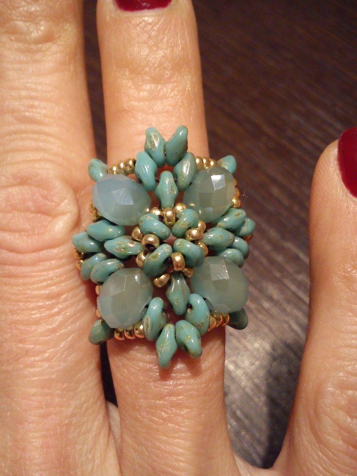 """tutorial Anello """"Sofia"""" con superduo e cipollotti  Love jewelry design and fabrication."""