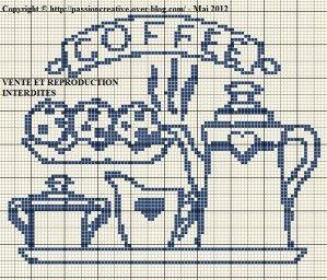 Bonjour, Après un bon repas, rien de tel qu'un café. Ca vous dit ? Pour imprimer la grille, cliquez sur l'image. Je vous remercie par avance pour la photo de votre ouvrage réalisé à partir d'une de mes grilles. Bon après midi