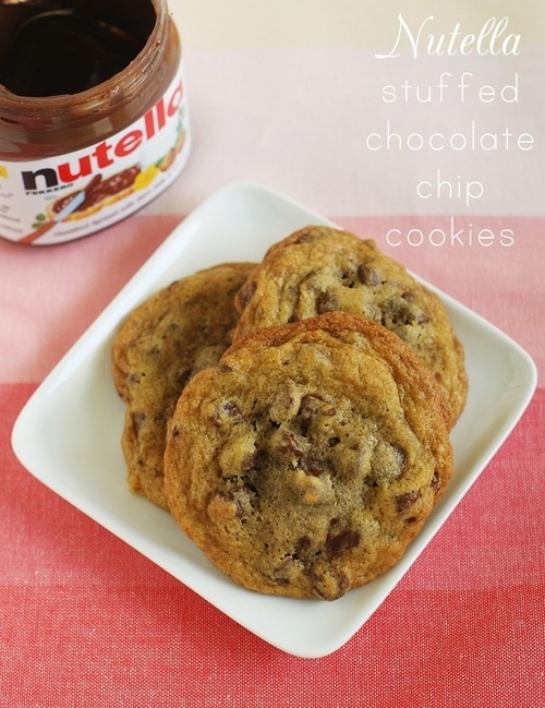 Nutella Stuffed Chocolate Chip cookies | Yummies | Pinterest