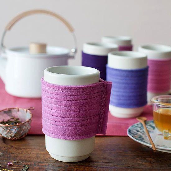 Tea Cozy Craft from @Gayle Roberts Merry Homes and Gardens ! So simple and cute - a good idea for Mother's Day! :)